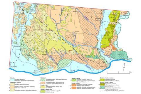 551d0e6ed4d Geologická mapa Podunajskej nížiny – juhovýchodná časť 1   50 000