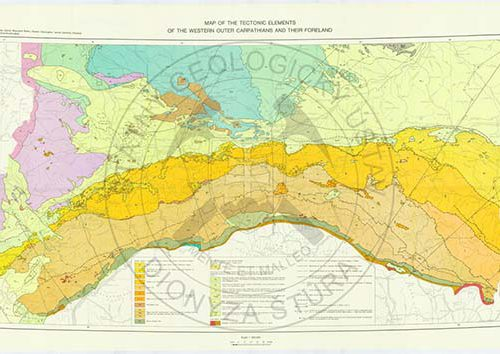 Tectonic map Carpathians