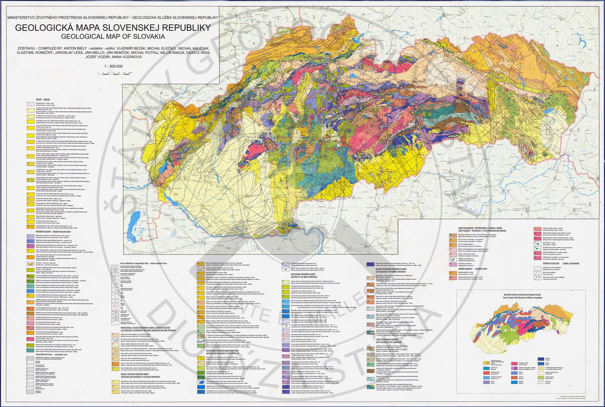 Geological Maps Sgids Statny Geologicky Ustav Dionyza Stura