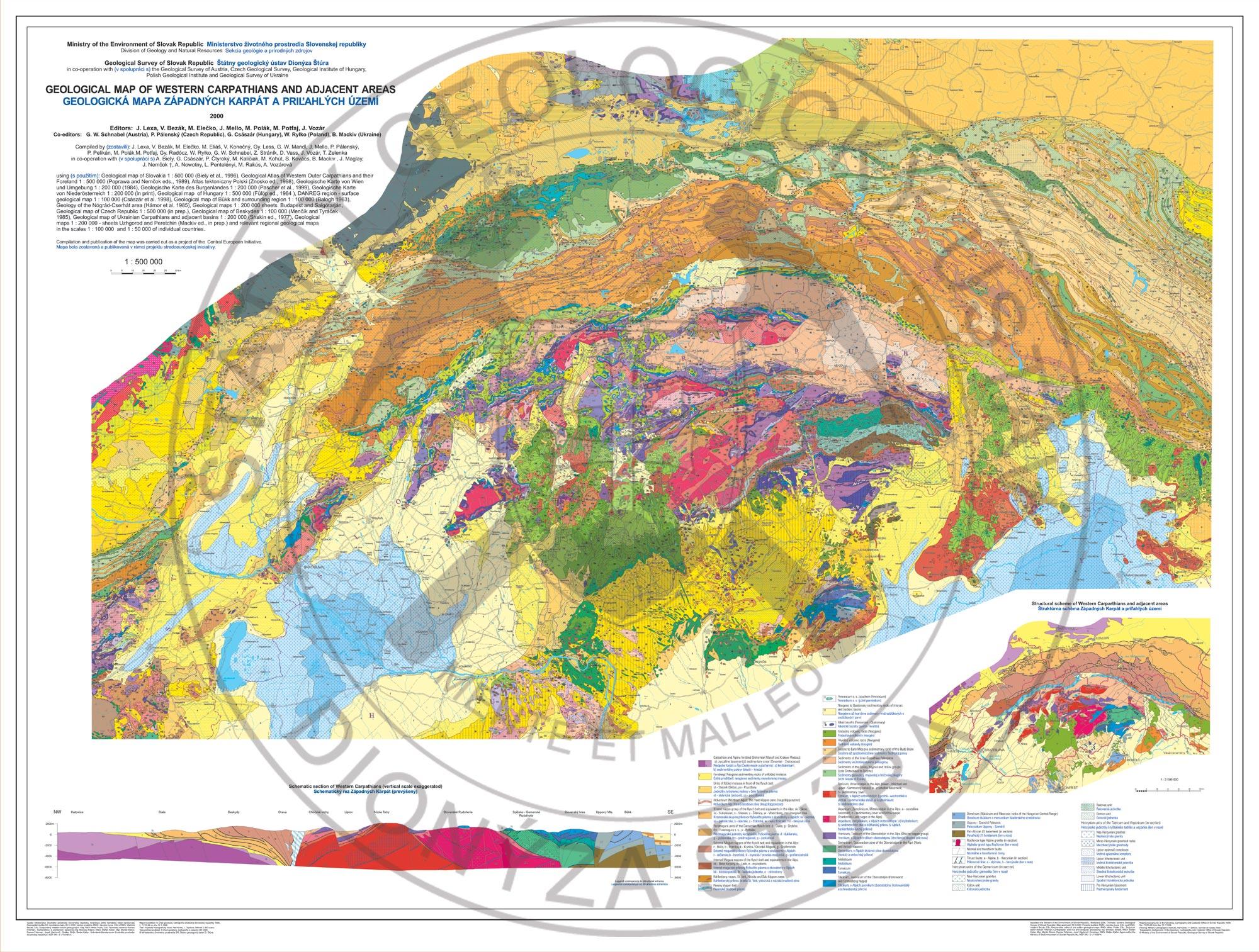 Geologic Map Of The Us.Geological Maps Sgids Statny Geologicky Ustav Dionyza Stura